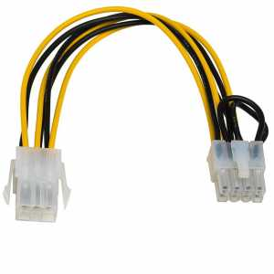 Kabel adapter Akyga AK-CA-07 PCI Express 6-pin (F) / 8-pin (M) 0,2m